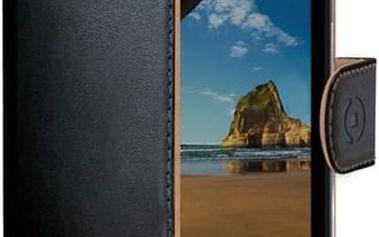 CELLY Wally pouzdro typu kniha Microsoft Lumia 550 PU kůže černé
