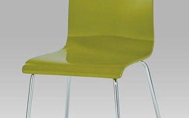 Jídelní židle C-520 GRN1 - chrom/překližka zelená