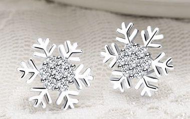 Náušnice pro ženy s motivem sněhové vločky - dodání do 2 dnů