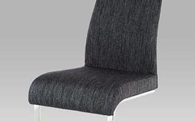 Jídelní židle AC-1817 chrom / látka černá