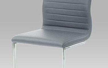 Jídelní židleHC-038-1 chrom / koženka šedá