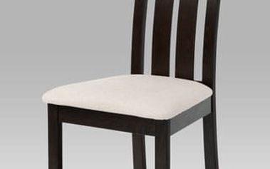 Jídelní židle BC-2602 BK - wenge/potah béžový