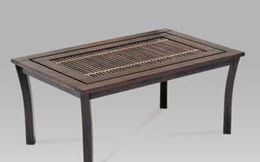 Jídelní stůl Redang PO270-T1 BR 102x66x46 cm - kaučuk/ratan hnědý