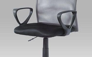 Kancelářská židle KA-BERT GREY - látka MESH černá/látka MESH šedá
