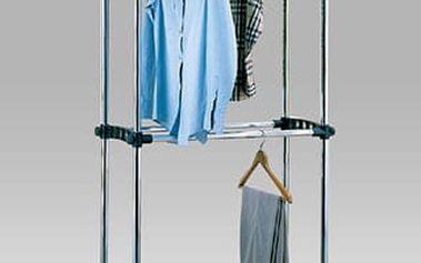 Stojan na šaty 83839-21 - chrom/plast černý