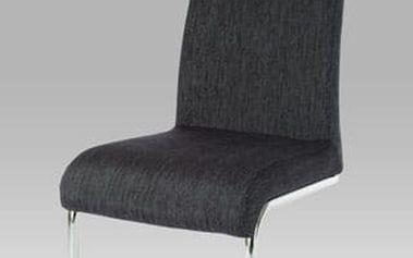 Jídelní židle AC-1950 chrom/látka černo-stříbrná