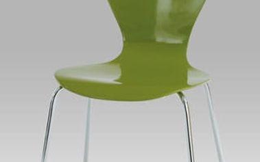 Jídelní židle C-180-5 GRN - chrom/překližka zelená