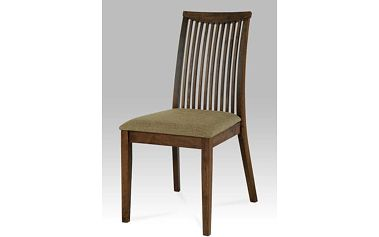 Jídelní židle ARC-7177 barva ořech, potah pískový