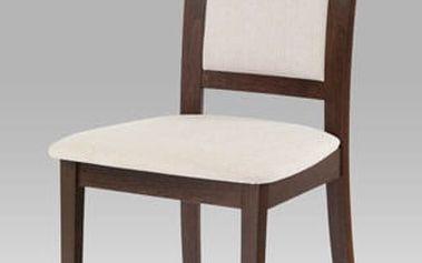 Jídelní židle BC-3960 ořech, potah krémový