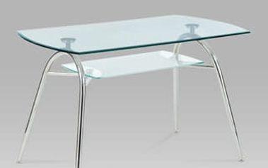 Jídelní stůl A2022 CR 120x70 cm - chrom/sklo
