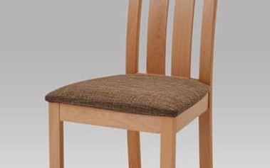 Jídelní židle BC-2602 BUK3 - buk/potah hnědý