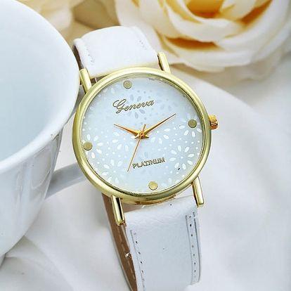 Dámské analogové hodinky - bílé - dodání do 2 dnů