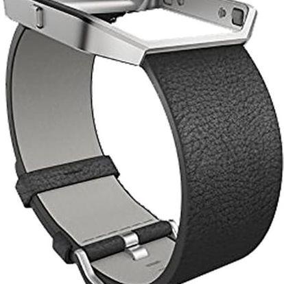Fitbit Blaze Accessory Band, S, leather, černá - FB159LBBKS