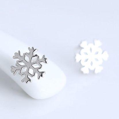 Náušnice v podobě sněhových vloček - dodání do 2 dnů