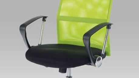 Kancelářská židle KA-E300 GRN - černá koženka/zelená látka