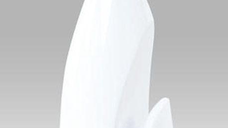 Konferenční stolek AF-2063 WT - číré sklo/vysoký lesk bílý