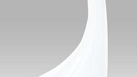 Odkládací stolek ACT-706 WT průměr 44,5 cm - sklo/bílý plast