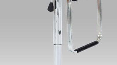 Barová židle AUB-305, chrom/koženka černá