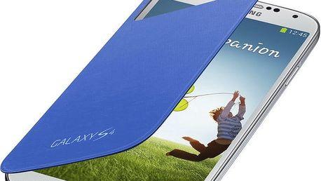 Samsung flipové pouzdro S-view EF-CI950BC pro Galaxy S4, světle modrá - EF-CI950BCEGWW