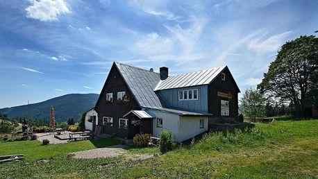 Horská bouda Míla v Krkonoších s polopenzí, dítě do 10 let zdarma
