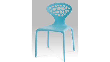 Jídelní židle CT-273 BLU - plast modrý