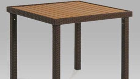 Zahradní stůl BNZ-090 BR 90x90 cm - kov/plast hnědý