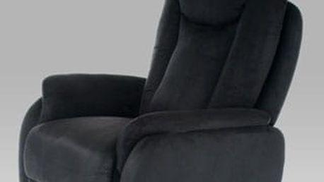 Relaxační křeslo TV-7039 BK2 - látka černá