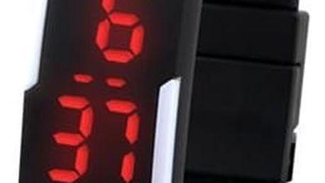 Sportovní LED hodinky ze silikonu - černá barva - dodání do 2 dnů