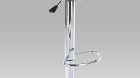 Barová židle AUB-1030 BK - chrom/plast černý