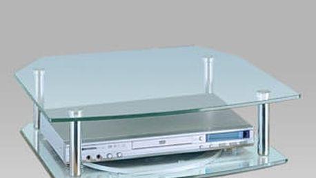 TV stolek otočný WV05-2200 - chrom/sklo