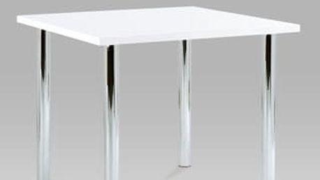 Jídelní stůl AT-1913 WT 90x90 cm - chrom/bílý