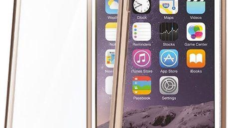 CELLY Laser - lemování s kovovým efektem TPU pouzdro pro Apple iPhone 6 Plus/6S Plus, zlatá - BCLIP6SPGD