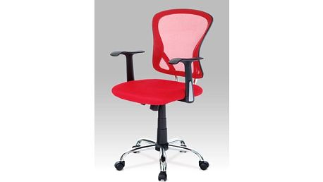 Kancelářská židle KA-N806 RED - látka červená
