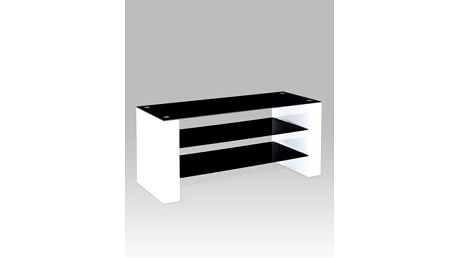 TV stolek ATV-2010 WT, černé sklo/vys. lesk bílý