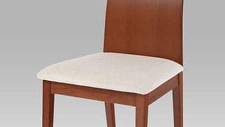 Jídelní židle BC-3164 barva třešeň, potah krémový