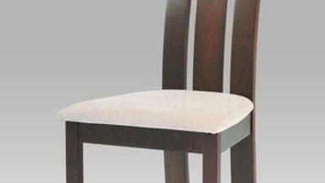 Jídelní židle BC-3931 WAL - ořech/potah krémový