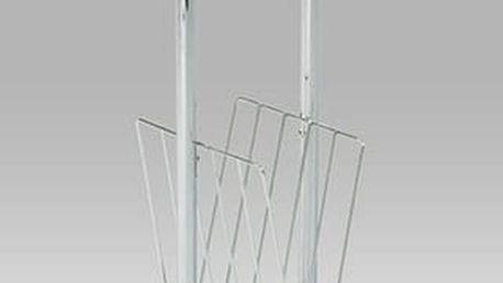 Odkládací stolek na noviny 83728 sklo/chrom