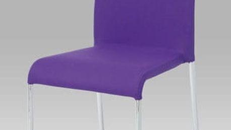 Jídelní židle WE-5010 PUR2 - chrom/látka fialová