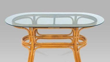Konferenční stolek PO99-4 HO 110x50x55 cm - ratan/bez skla