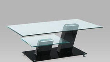 Konferenční stolek AHG-020 BK 115x75x43 cm - sklo/černý
