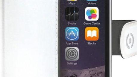 CELLY Wally pouzdro typu kniha pro Apple iPhone 6/6S, PU kůže, bílá - WALLY700WH