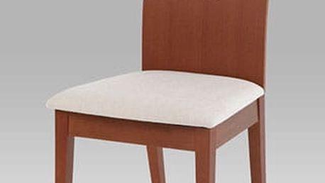 Jídelní židle BC-1507 třešeň, potah krémový