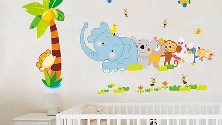 Samolepka na zeď pro děti - Veselá zvířátka - dodání do 2 dnů