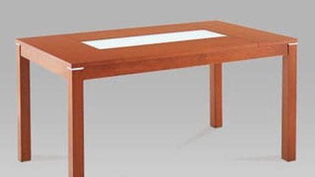 Jídelní stůl BT-6770 TR2 150x90 cm - třešeň/sklo