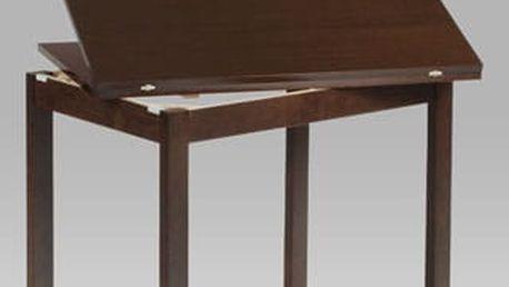 Jídelní rozkládací stůl BT-4723 WAL 60+60x90 cm - ořech