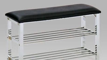 Botník - taburet GC2131- chrom/koženka
