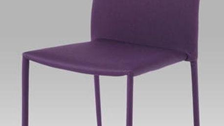 Jídelní židle WE-5015 LILA2 - chrom/fialová