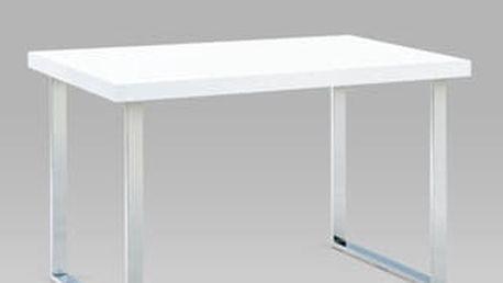 jídelní stůl A770 chrom/bílý lak (lesk)