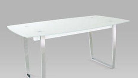 Jídelní stůl A897 WT 160x90 cm - chrom/sklo