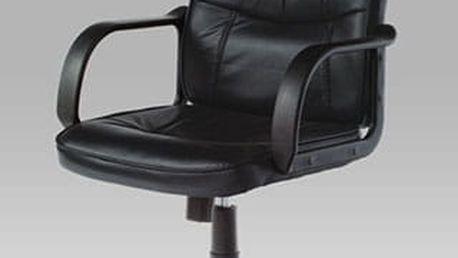 Kancelářské křeslo KA-9081 BK - černé PVC